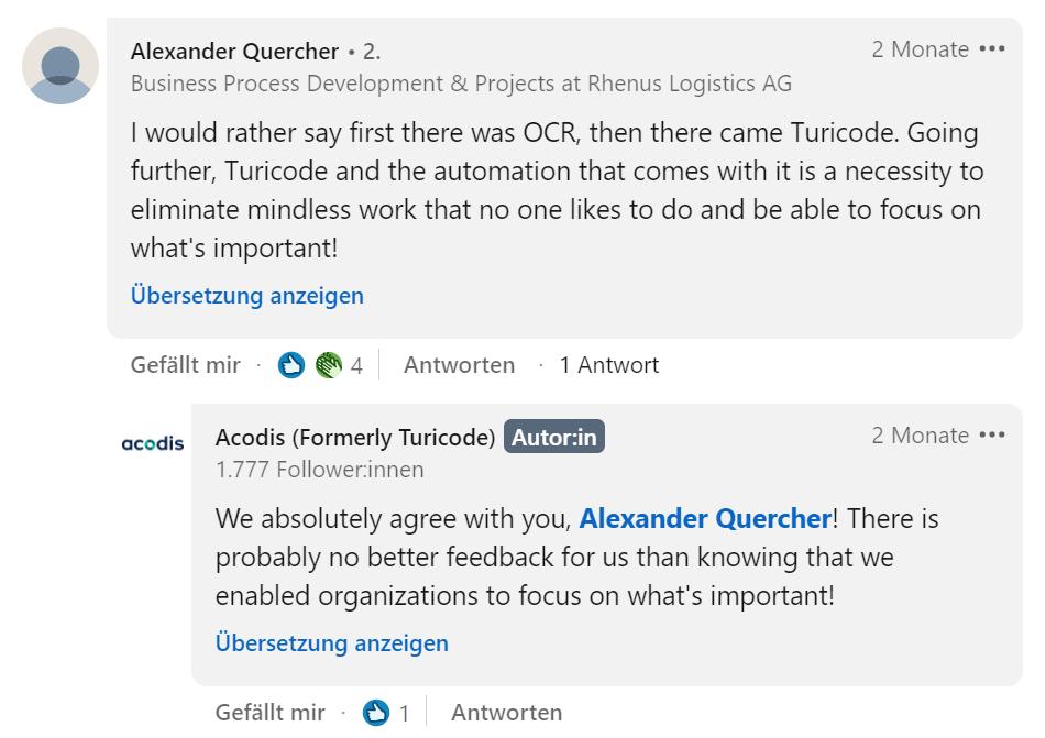 LinkedIn_Alexander Quercher Comment_Acodis