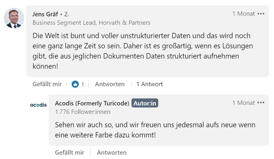 LinkedIn_Jens Gräf Comment_Acodis
