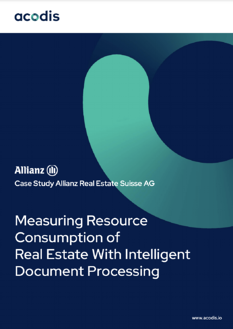 Acodis | Allianz Suisse Real Estate Case Study | Intelligent Document Processing for Automated Invoice Documents Processing