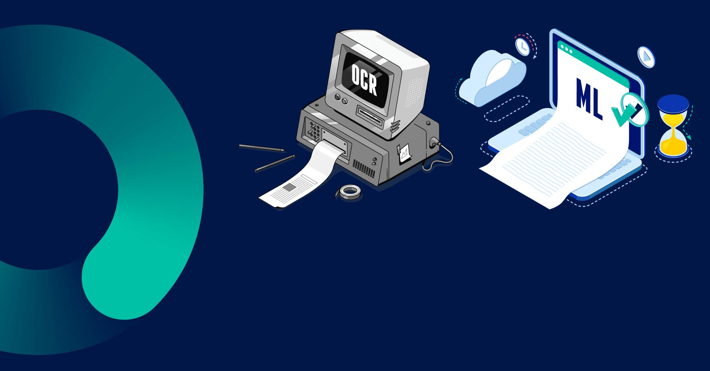 Unterschied zwischen OCR & intelligenter Dokumentenverarbeitung (IDP)